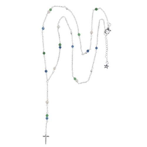 N840 Silver REBELLION NECKLACE Rosary Cross Necklace 69,95 euro