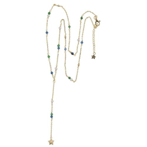 N841 Gold REBELLION NECKLACE Rosary Star Cone Necklace 79,95 euro