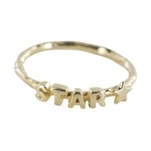 R807 Gold REBELLION RING Text Star Ring 44,95 euro