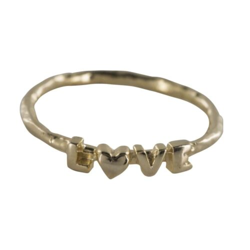 R808 Gold REBELLION RING Text Love Ring 44,95 euro
