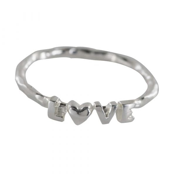R808 Silver REBELLION RING Text Love Ring 34,95 euro