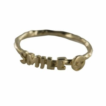 R809 Gold REBELLION RING Text Smile Ring 44,95 euro