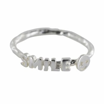 R809 Silver REBELLION RING Text Smile Ring 34,95 euro