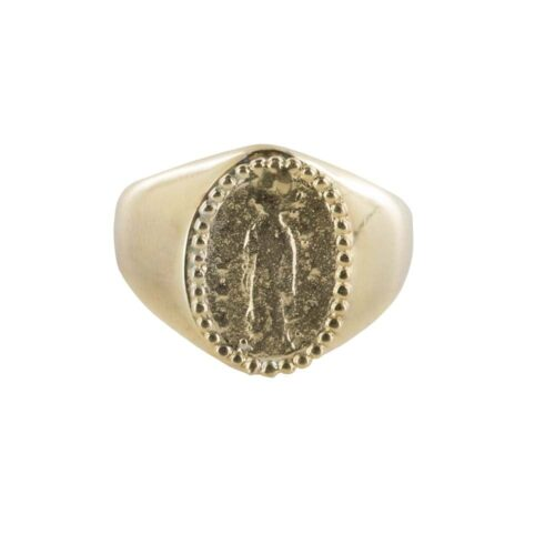 R839 Gold REBELLION RING Oval Maria Coin Signet Ring Gold 64,95 euro