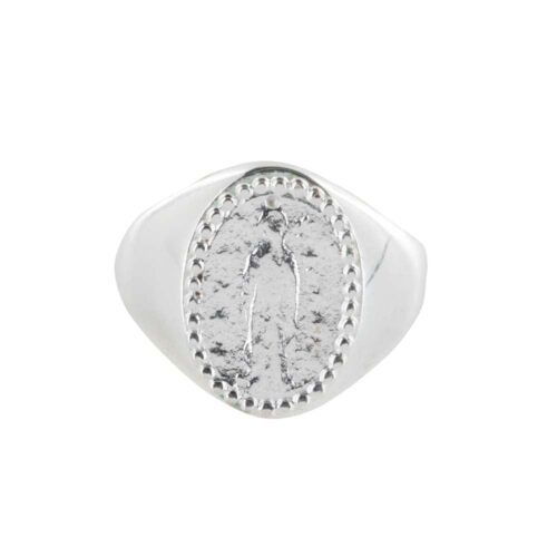 R839 Silver REBELLION RING Oval Maria Coin Signet Ring Silver 54,95 euro