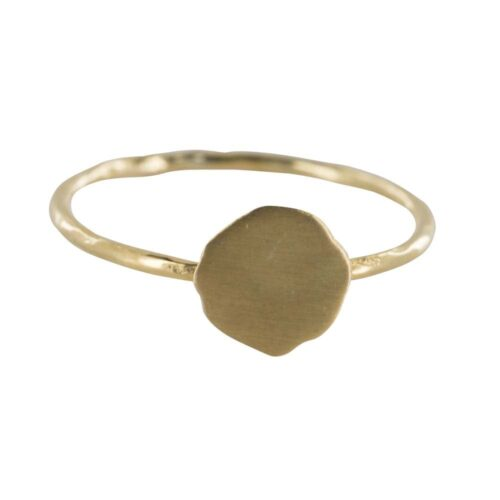 R842 Gold REBELLION RING Round Plain Charm Ring 39,95 euro