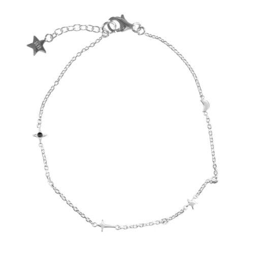 B873 Silver BLACK BONJOUR PARIS BRACELET Charms Moon Star Bracelet Silver 49,95 eurokopie