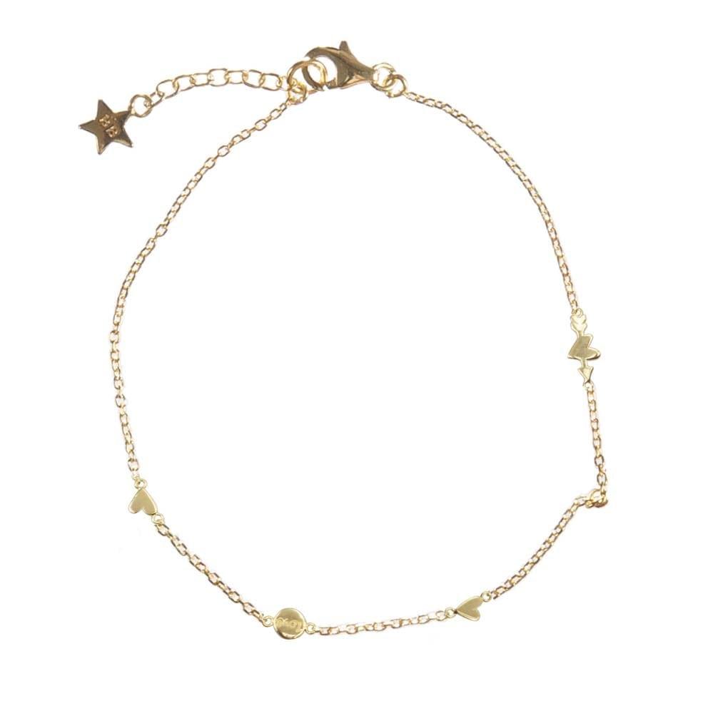 B874 Gold Bonjour Paris Bracelet Charms A Lot Of Love Plated 59 95