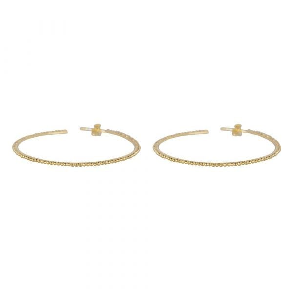 E857 Gold LARGE BONJOUR PARIS EARRING Dotted Ring Earring LARGE Gold 59,95 euro