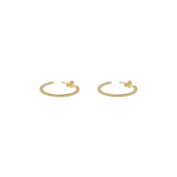 E857 Gold SMALL BONJOUR PARIS EARRING Dotted Ring Earring SMALL Gold 54,95 euro