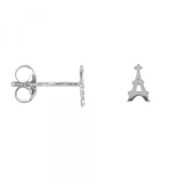 E863 Silver BONJOUR PARIS EARRING Tour Eiffel Stud Earring Silver 24,95 euro