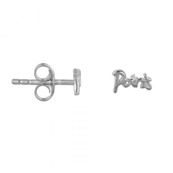 E866 Silver BONJOUR PARIS EARRING Paris Stud Earring Silver 24,95 euro