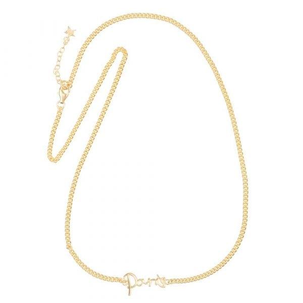 N866 Gold BONJOUR PARIS NECKLACE Paris Necklace Gold Plated 79,95 euro
