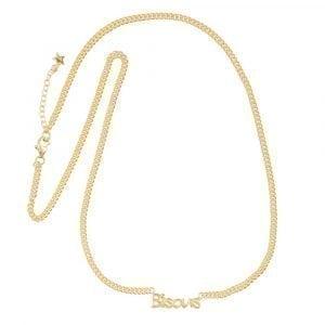 N872 Gold BONJOUR PARIS NECKLACE Bisous Necklace Gold Plated 79,95 euro