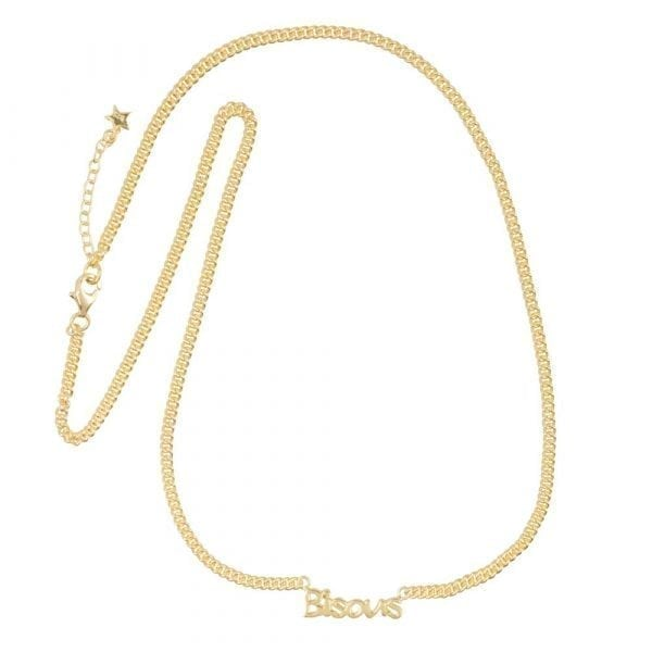 N872 Gold BONJOUR PARIS NECKLACE Bisous Necklace Gold Plated 79,95 euro
