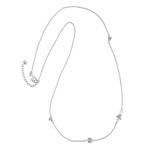 N874 Silver BONJOUR PARIS NECKLACE Charms A Lot Of Love Necklace Silver 54,95 euro