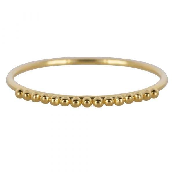 R857 Gold Size 16 BONJOUR PARIS RING Dotted Ring Gold 39,95 euro