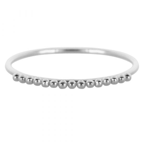 R857 Silver Size 16 BONJOUR PARIS RING Dotted Ring Silver 29,95 euro