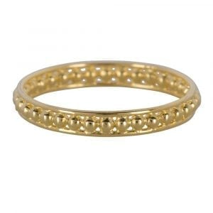 R858 Gold Size 14 BONJOUR PARIS RING Double Ring Dots Gold Plated 44,95 euro
