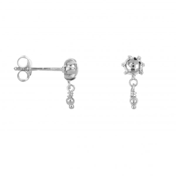 E853 Silver SEA ROCKS EARRING Double ball stud Earring Silver 34,95 euro