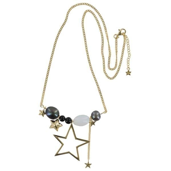 N890 Gold NECKLACE Statement Star Necklace Gold Plated 139,95 euro