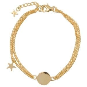 B904 Gold KID BRACELET Double Chain Star KID Bracelet Gold Plated 69,95 euro