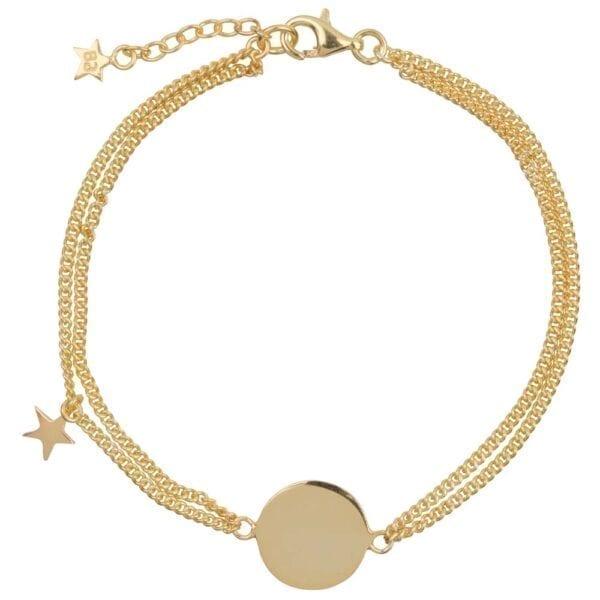B904 Gold MUM BRACELET Double Chain Star MUM Bracelet Gold Plated 79,95 euro