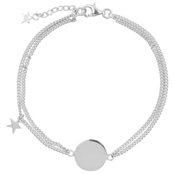 B904 Silver MUM BRACELET Double Chain Star MUM Bracelet Silver 69,95 euro