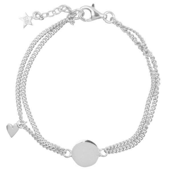 B905 Silver KID BRACELET Double Chain Heart KID Bracelet Silver 59,95 euro
