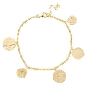 B910a Gold BRACELET Coins Bracelet Gold Plated 79,95 euro