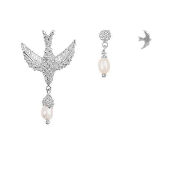 E906 Silver EARRING Bird Mix Silver (three pieces) 59,95 euro