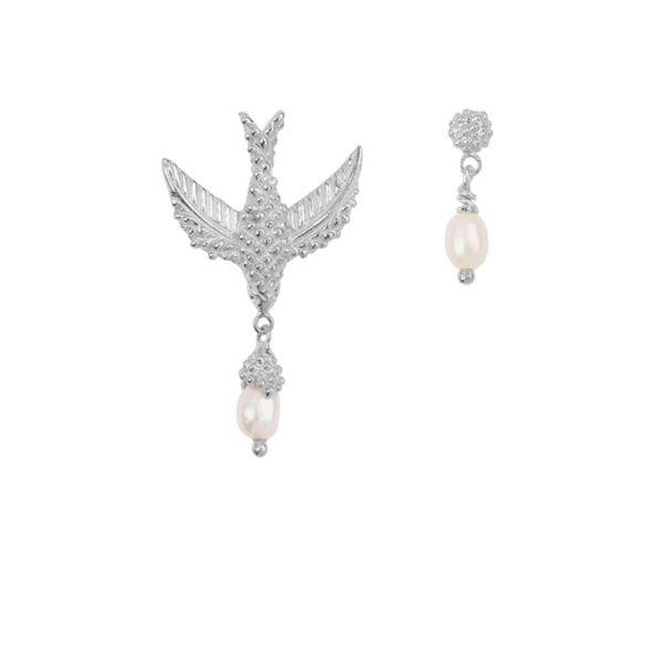 E906a Silver EARRING Bird Pearl Earring Silver 49,95 euro