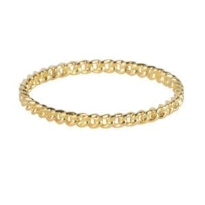 R922 Gold RING Small Chain Ring Gold Plated 34,95 euro