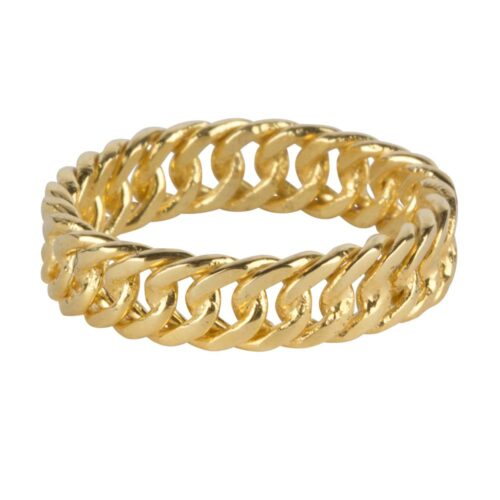 R923 Gold RING Big Closed Chain Ring Gold Plated 59,95 euro