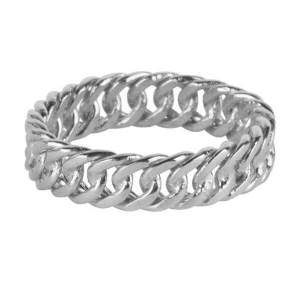 R923 Silver RING Big Closed Chain Ring Silver 49,95 euro