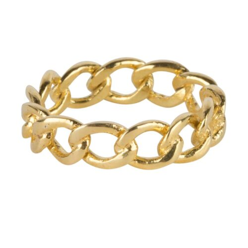 R924 Gold RING Big Open Chain Ring Gold Plated 59,95 euro