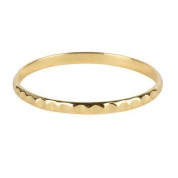 R925 Gold RING Fine Dented Ring Gold Plated 34,95 euro