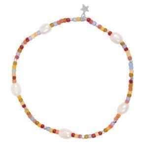 B948 Silver BRACELET Colour Beads Pearls Bracelet Silver