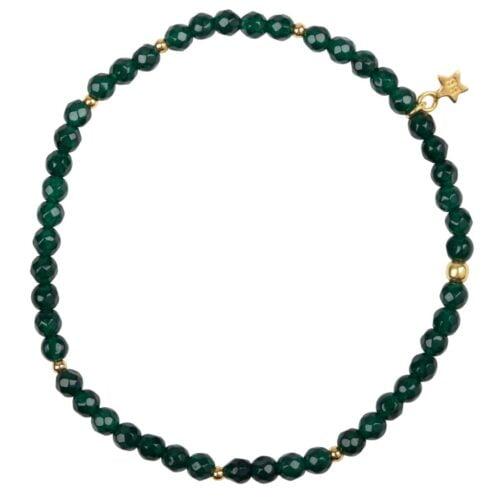 B950 Gold Jade BRACELET Beads Jade Bracelet Gold Plated