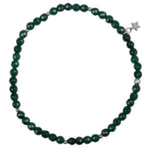 B950 Silver Jade BRACELET Beads Jade Bracelet Silver