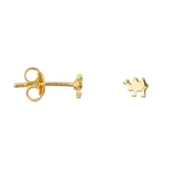 E943 Gold EARRING Camel Stud Earring Gold Plated
