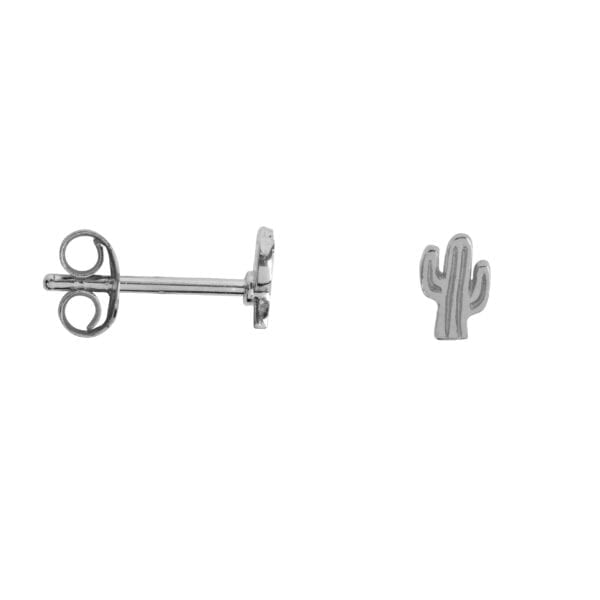 E944 Gold EARRING Cactus Stud Earring Gold Plated