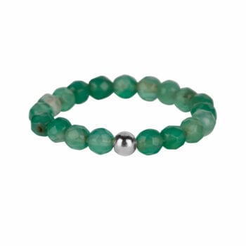 R950 Silver Jade RING Beads Jade Ring Silver