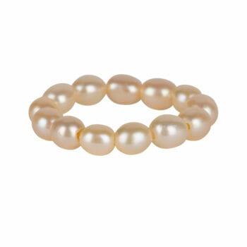 R950 White RING Beads Pearl Ring