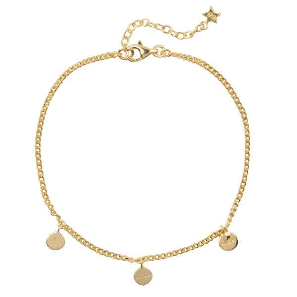 B976 Gold BRACELET I love You Bracelet Gold Plated 59,95 euro