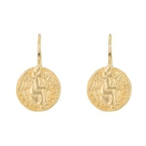E962 Gold EARRING Angel Hook Earring Gold Plated 49,95 euro