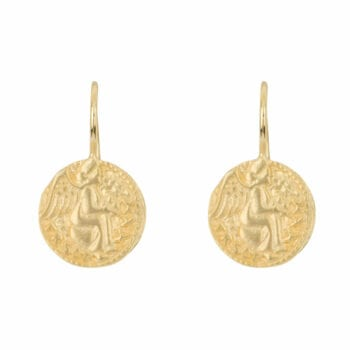 E962 Gold EARRING Angel Hook Earring Gold Plated 49,95 euro