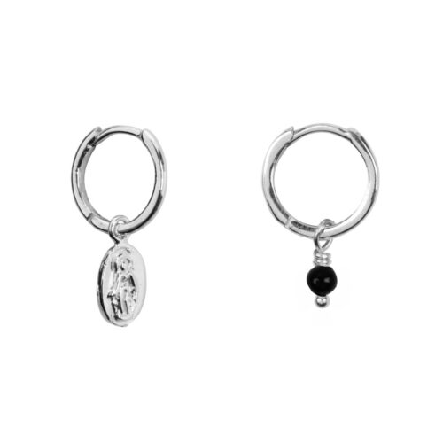 E963 Silver EARRING Three Double Coin Stud Earring Silver 44,95 euro