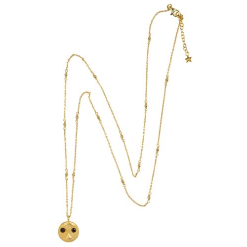 N956 Gold NECKLACE Owl Face Necklace Gold Plated 89,95 euro