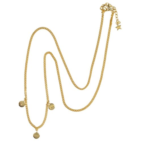 N976 Gold NECKLACE I love You Necklace Gold Plated 69,95 euro